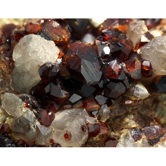 Spessartine Calcite & Quartz