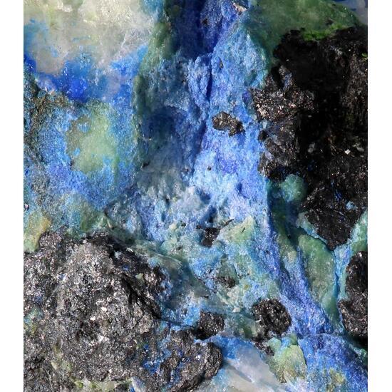 Quetzalcoatlite Hessite Native Silver & Azurite