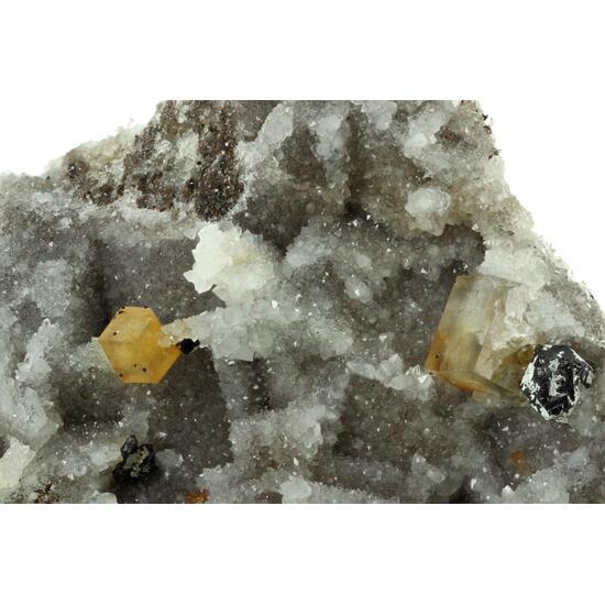 Fluorite & Sphalerite On Quartz Psm Fluorite