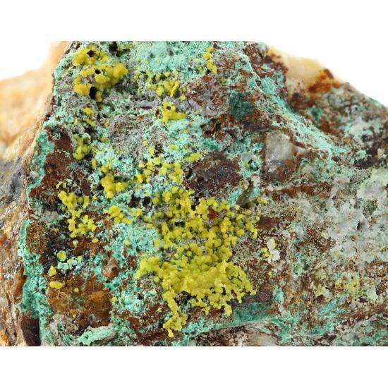 Pyromorphite & Malachite