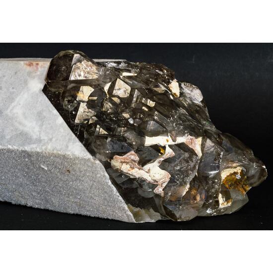Smoky Quartz With Calcite