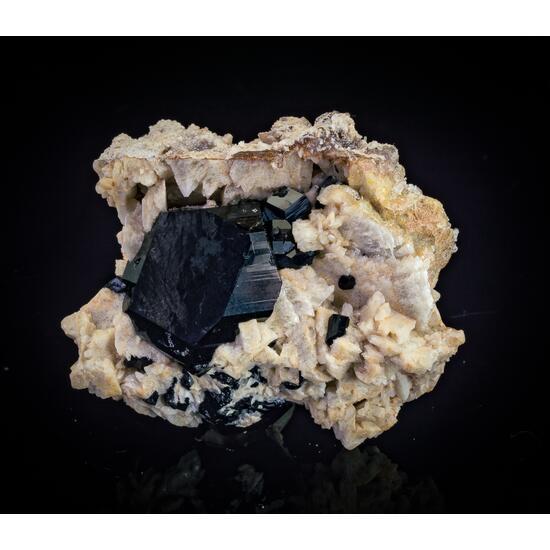 Opal Var Hyalite Schorl & Feldspar