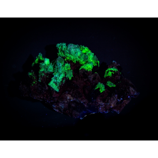 Opal Var Hyalite On Schorl Tourmaline
