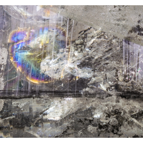 Enhydro Quartz With Bitumen Inclusions