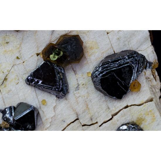 Magnetite & Andradite On Orthoclase