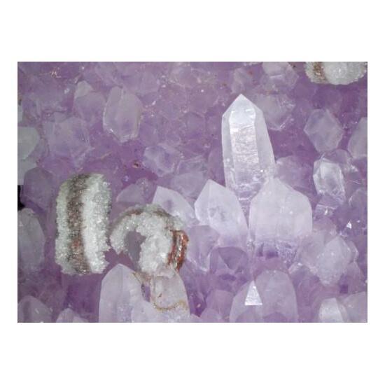 Calcite & Amethyst