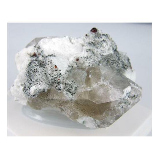 Spessartine Fluorapophyllite & Quartz