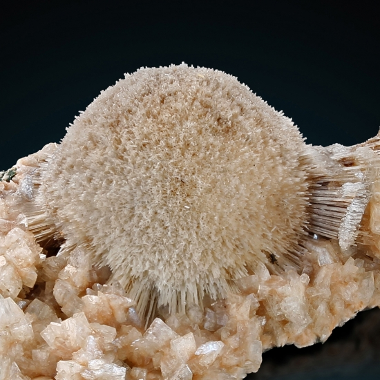Thomsonite With Stilbite On Heulandite