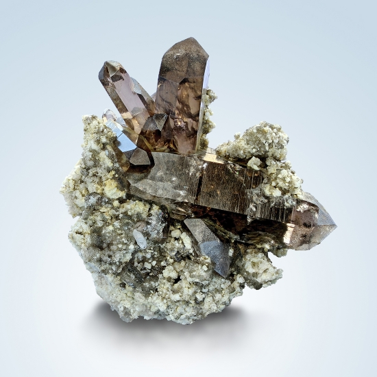 Smoky Quartz & Apatite