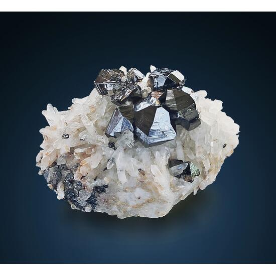 Cassiterite On Quartz