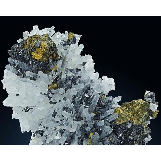 Chalcopyrite & Sphalerite On Quartz