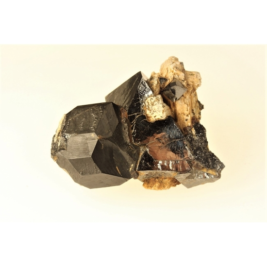 Melanite & Magnetite On Orthoclase