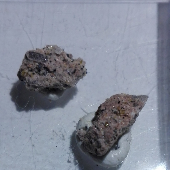 Fluoro-edenite & Hematite