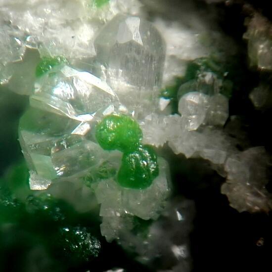 Duftite Cerussite & Malachite