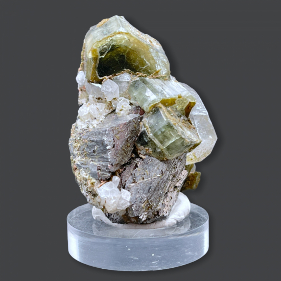 Apatite Topaz Quartz & Pyrite