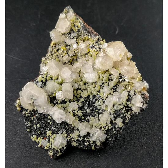Wulfenite & Calcite & Prehnite