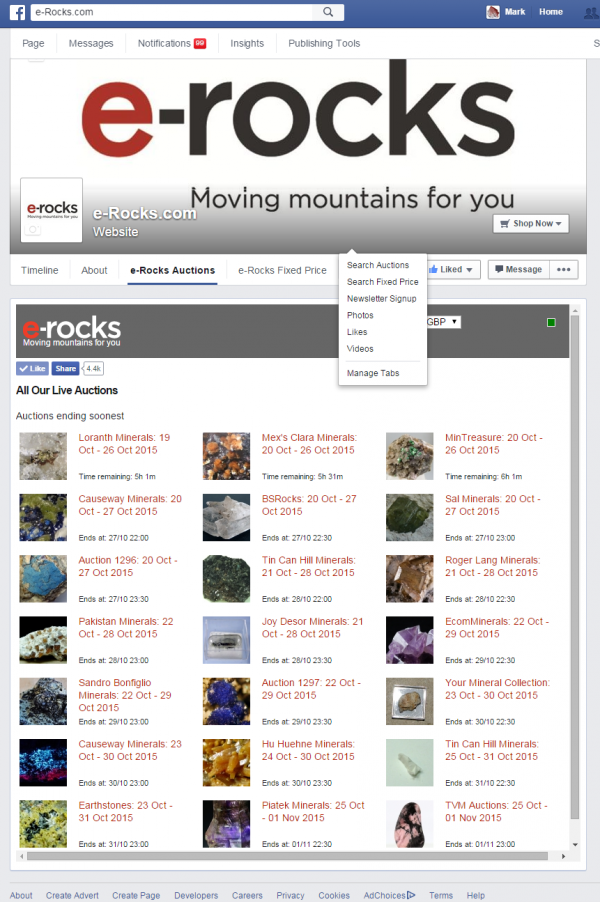 Content image: Get e-Rocks on Facebook