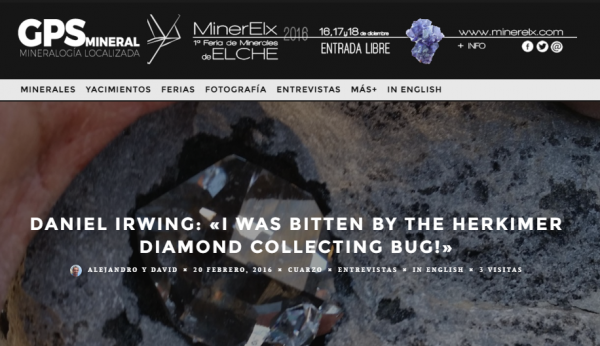 Content image: GPSmineral, a new online mineralogy record